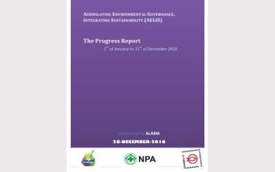 AEGIS Program Report (Jan-Dec 2016)