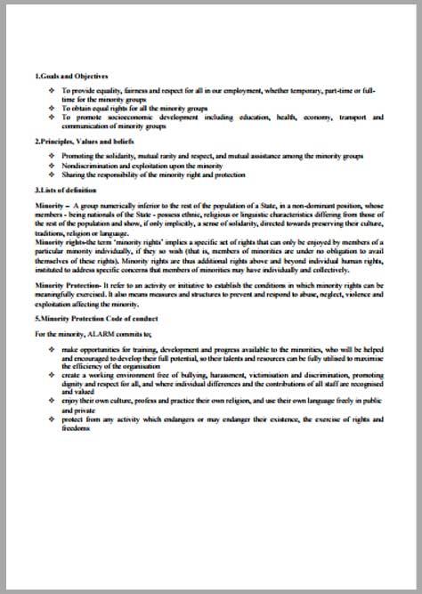 ALARM Minority Policy Brief