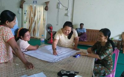 """Training on Land and Politics"" and ""Organizational Capacity Building Training"" held in Mawlamyine"