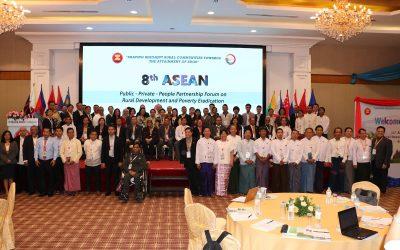 ALARM's E.D U Win Myo Thu At 8th ASEAN PPP Fourm on Rural Development and Poverty Eradication